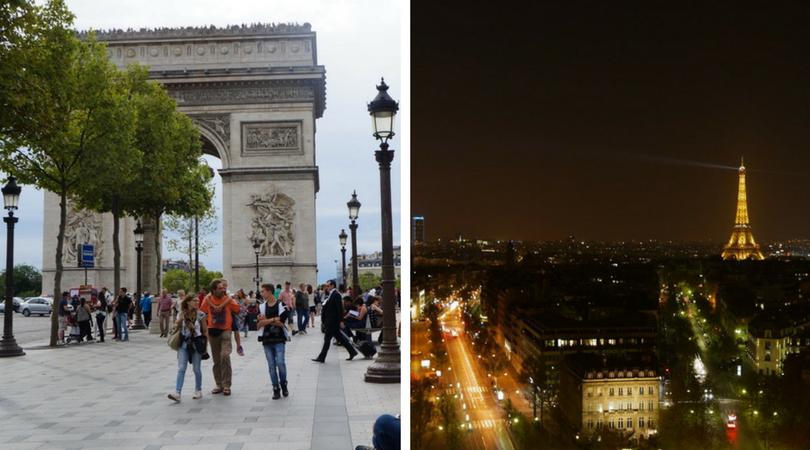 必去巴黎景點 -  凱旋門、香榭大道