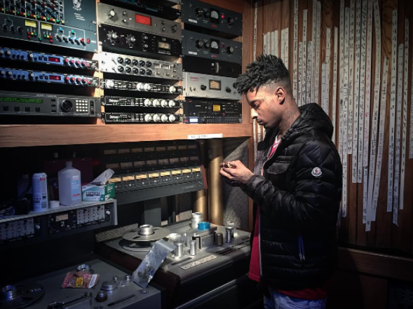 21 Savage in Studio A