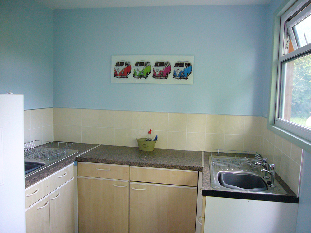 Indoor washing up room