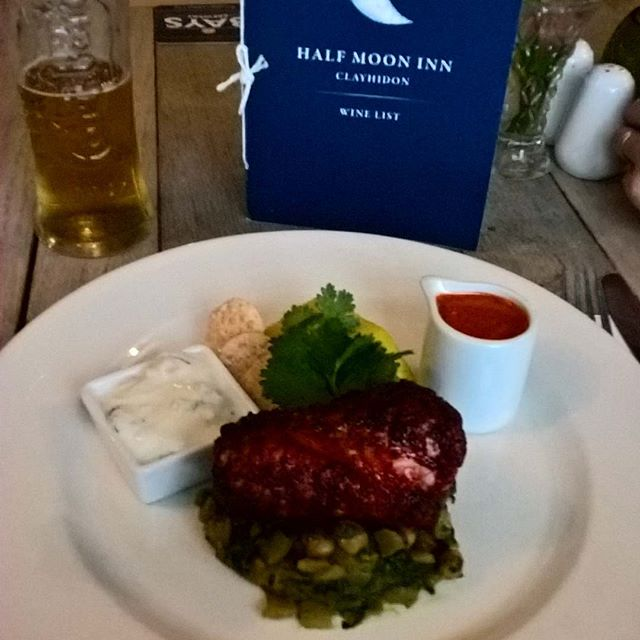 Our local pub @halfmoondevon has some great food on their menu this week