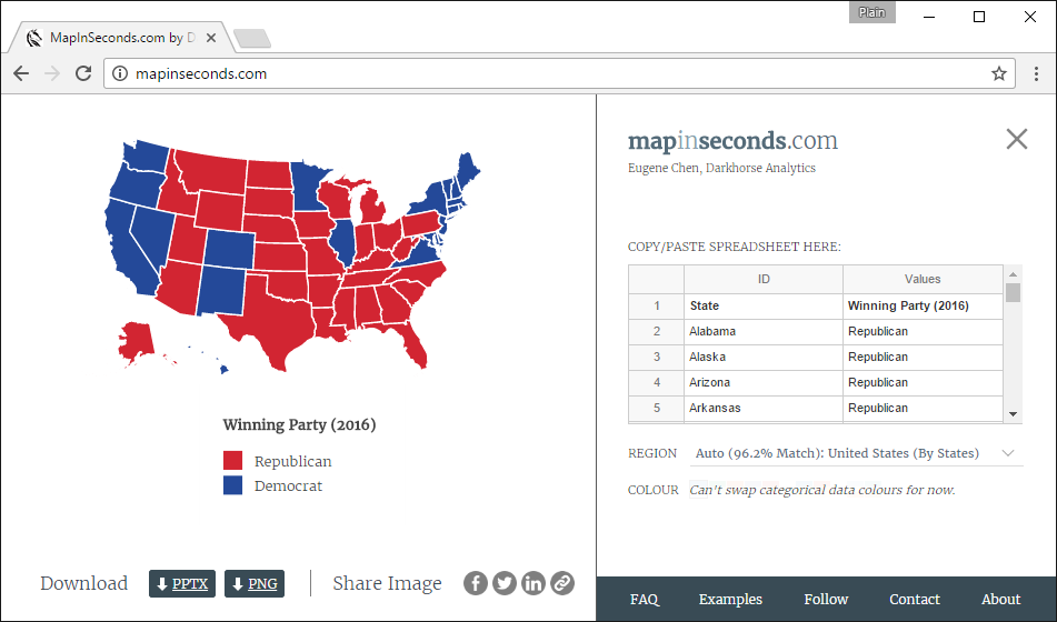 Mapping Data Should Take Seconds MapInSecondscom Darkhorse - Us state maps in r