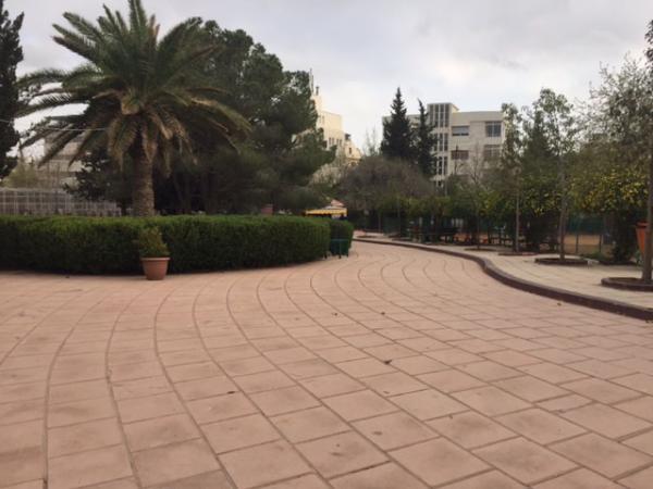 View of the park taken from the northern entrance   لقطة للحديقة مأخوذة من المدخل الشمالي