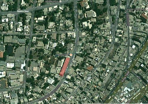 Map showing the building's location   خريطة تبين موقع المبنى