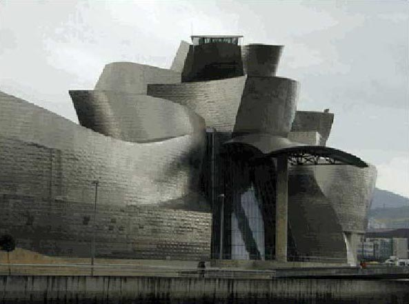 Figure 5: Computer simulated image of Frank O. Gehry's Guggenheim Museum, Bilbao, 1997.