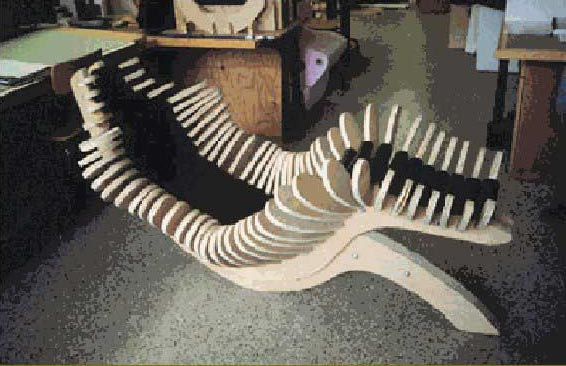 Figure 11: Full-scale model of chair designed and fabricated through the aid of CAD / CAM  systems for the chair design studio project at MIT.