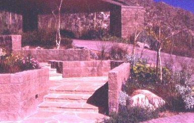 Fig. 11: The use of a combination of flagstone and concrete surfaces in a landscape design