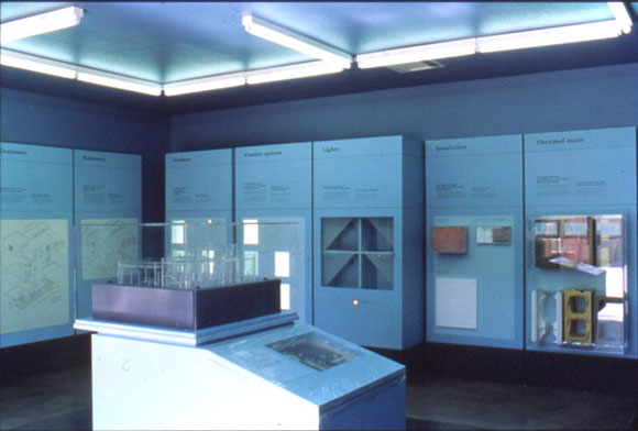 Figure 9: The technical exhibit at Desert House: the interactive computer.