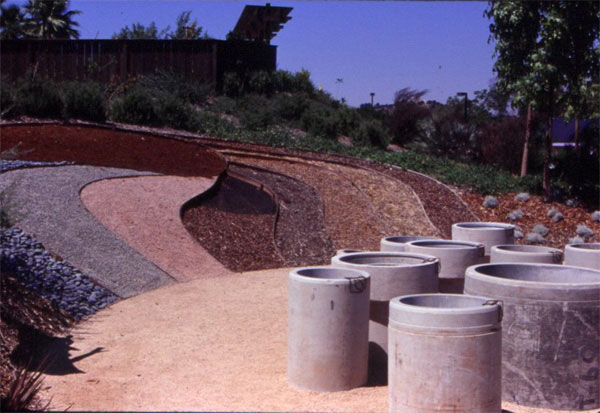 Figure 5: The Water Conservation Demonstration Garden in San Diego, California: The mulch area.