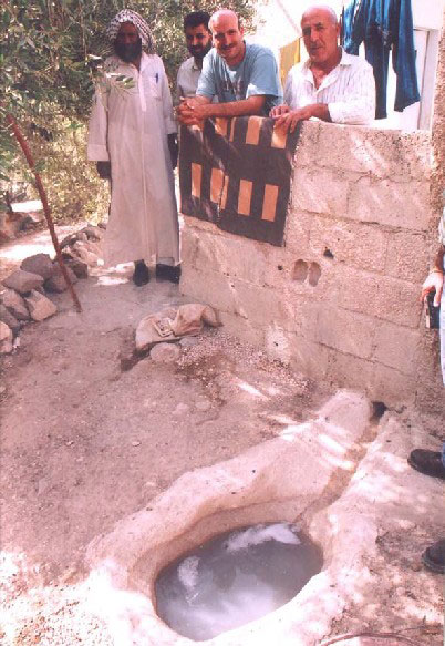 Figure 4.1: Graywater storage in Adasiyyah (Photograph by CSBE)