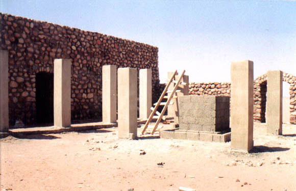 Figure 10: Photograph of central ablutions point, Ghuwaybah Mosque, Ghor Safi.
