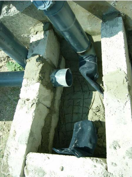 Figure 4.6: The new manhole and fiberglass filters at HF house.
