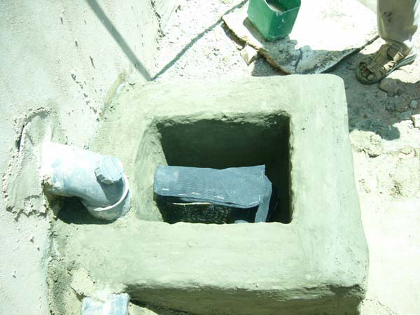 Figure 4.7: The graywater system in AR house in Ghor al-Safi.
