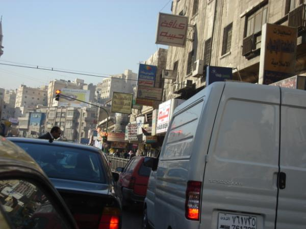 The motor vehicle dominates Amman's transportation network. (Siba al-Shouli)