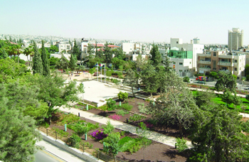 The National Gallery Park in Amman. (Osman Akoz)