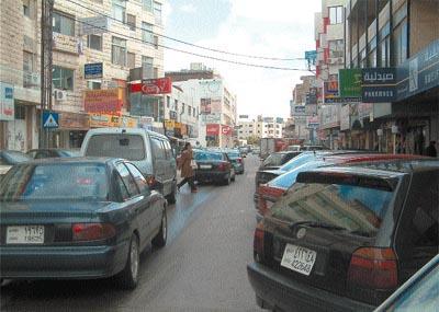 A street in Sweifieh. (Jumana Bissiso)