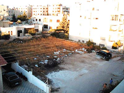 An empty plot in Amman. (Mohammad al-Asad)