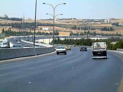 The Queen Alia Airport Road. (Jumana Bississo)