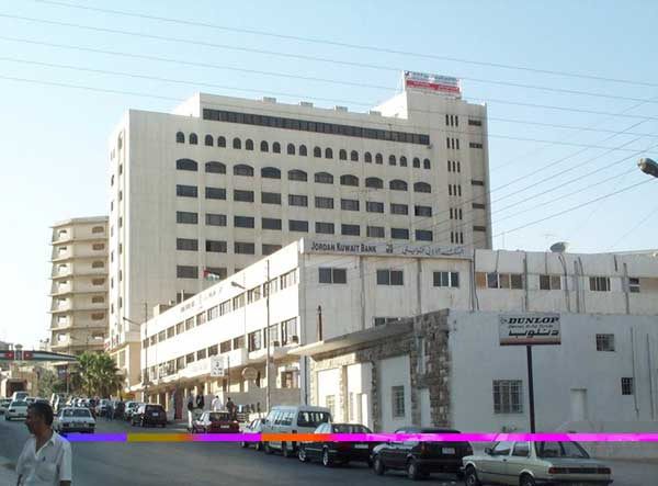 The Jordan-Kuwait Bank building before the expansion project