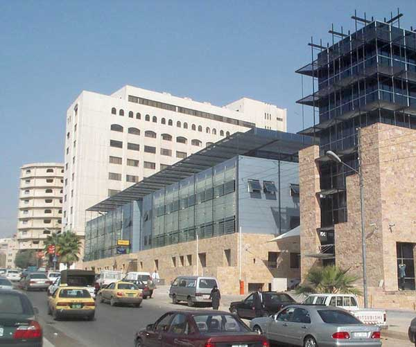 The Jordan-Kuwait Bank building after the expansion project