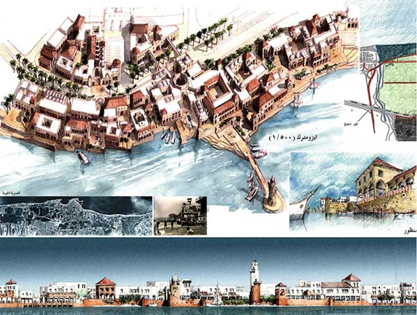 Proposed design for the Sidon Waterfront Development Project