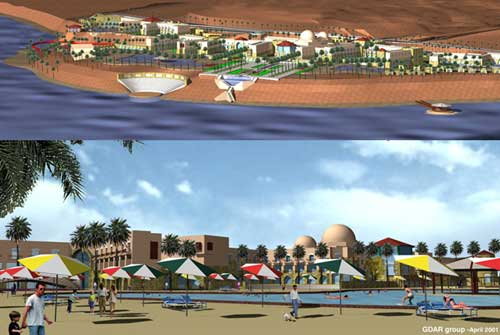 Proposed design for the Lost City of the Dead Sea Touristic Project