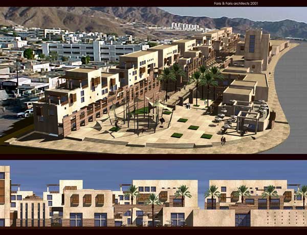 The submission for the design of al-Afran Urban Development Project Competition by Faris and Faris Architects