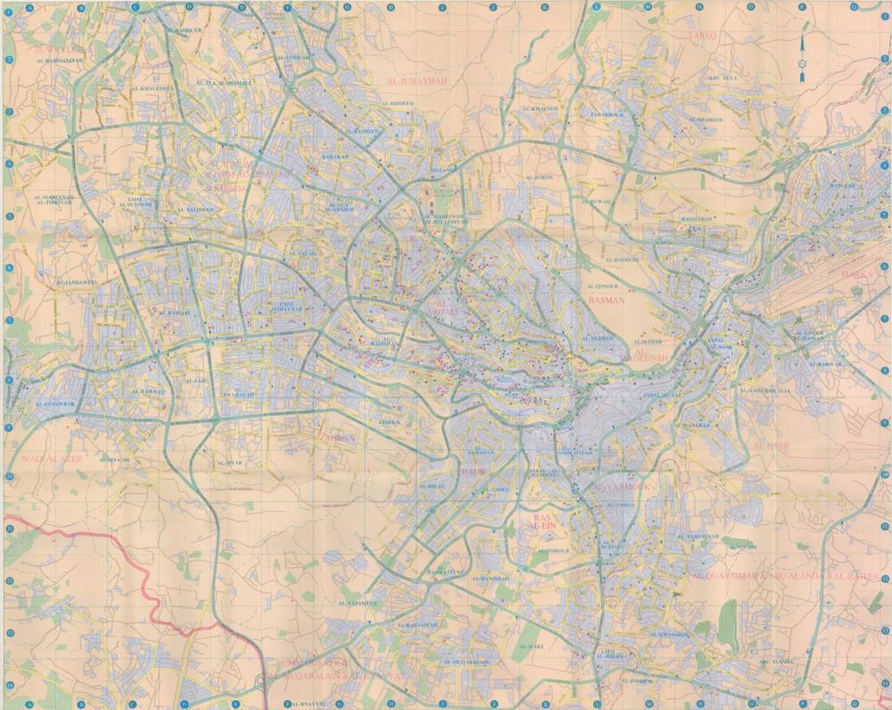 خريطة السياحية لمدينة عمان