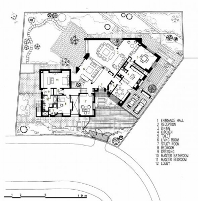 Figure 7: Mushahwar House, ground floor plan.