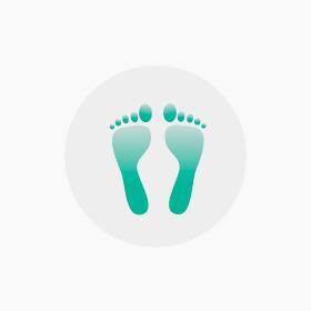 Massage des zones réflexes des pieds