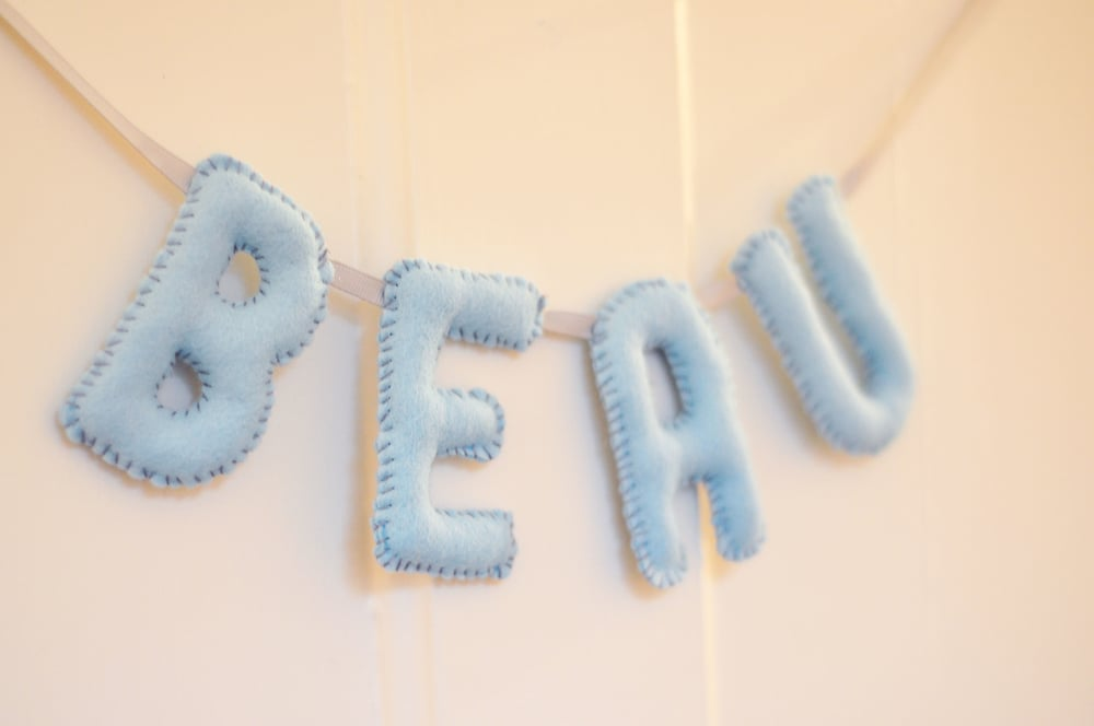 BEAU BABY NAME BUNTING