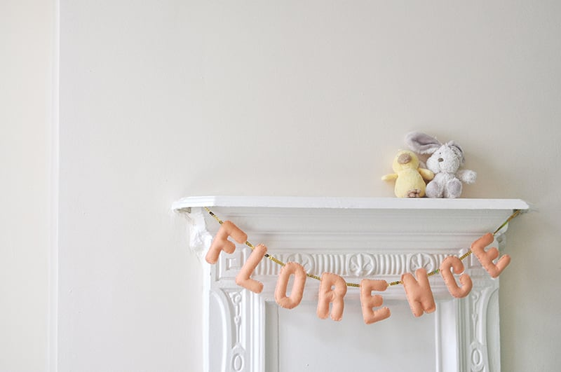 FLORENCE BABY NAME BUNTING