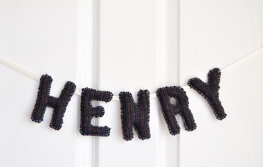 HENRY BABY NAME BUNTING