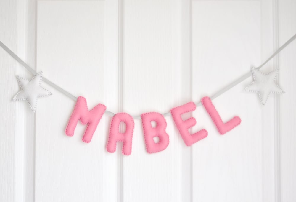 MABEL BABY NAME BUNTING