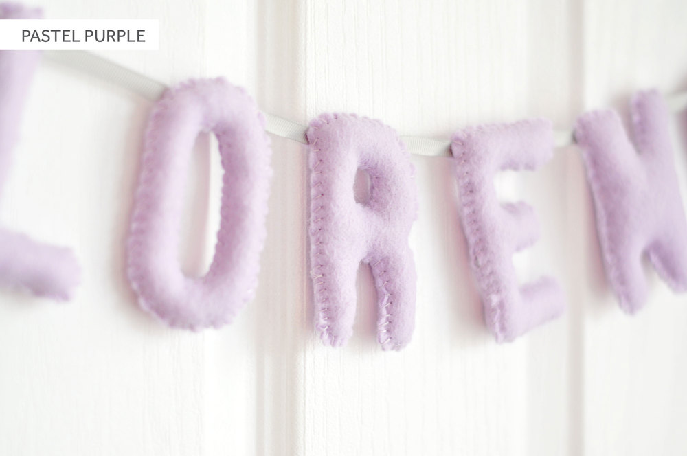 PASTEL PURPLE BABY NAME BUNTING