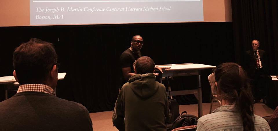 Darryl speaking at Harvard Medical School in Boston, USA.