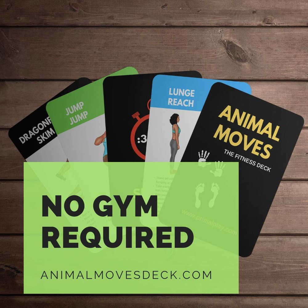 Have fun with the  Animal Moves Deck !