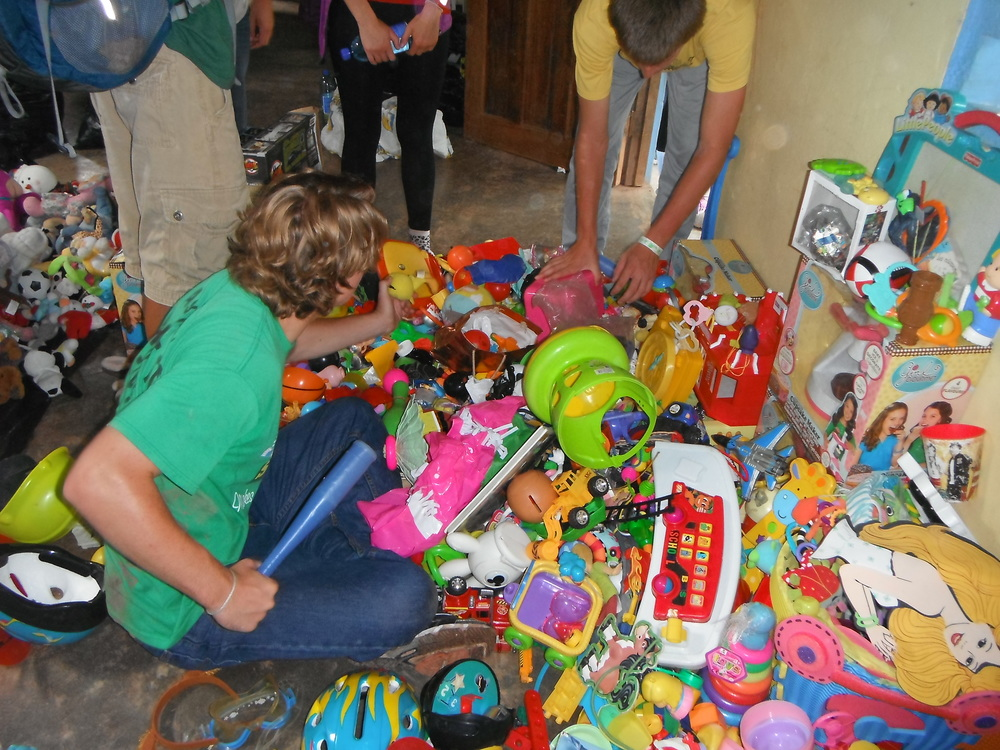 Sorting Donated Toys