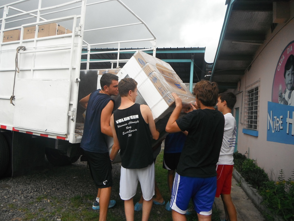 Unloading the New Washer & Dryer, 2012
