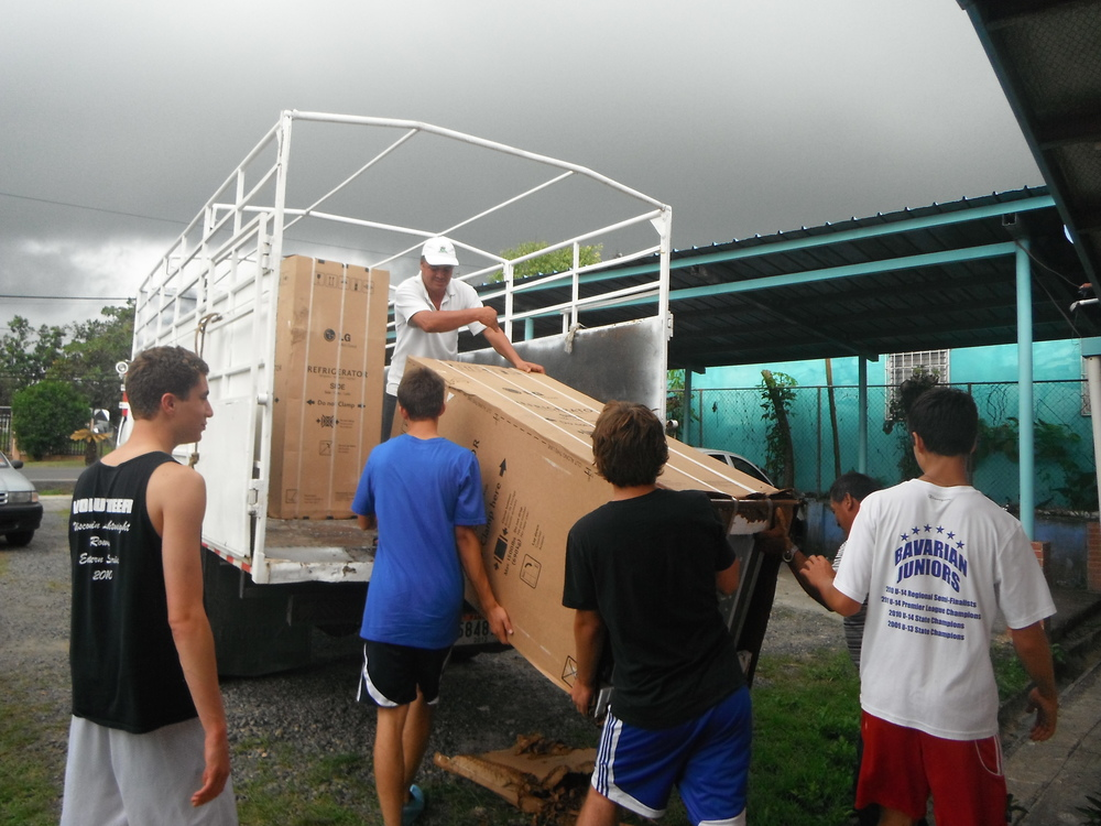 Unloading the New Refrigerator, 2012