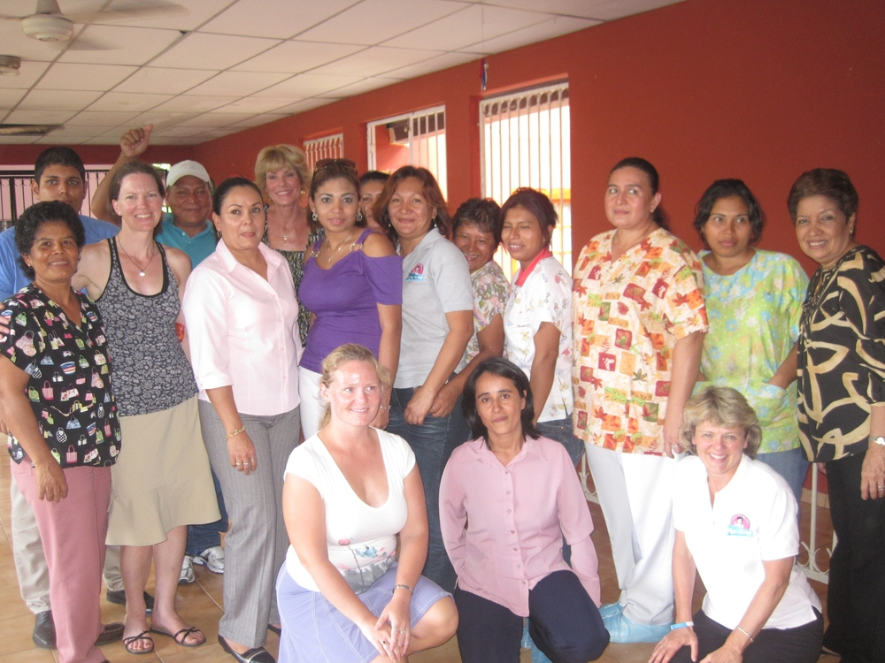 The administrators and caregivers of Nutre Hogar (taken July 2011).  The Santiago Center's director, Maria Name is on the far right.
