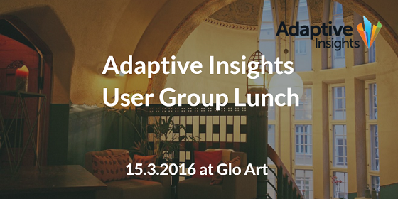 Adaptive Insights User Group Lunch