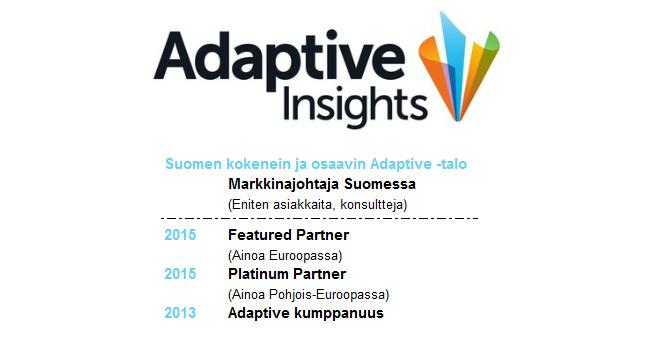 Adaptive Insights | Adaptive Planning | Adaptive Consolidation - Platinum Partner