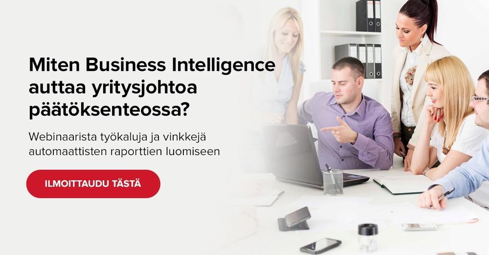 Ota Business Intelligence (BI) yrityksesi päätöksenteon tueksi