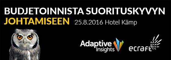 Adaptive Insights – Budjetoinnista suorituskyvyn johtamiseen