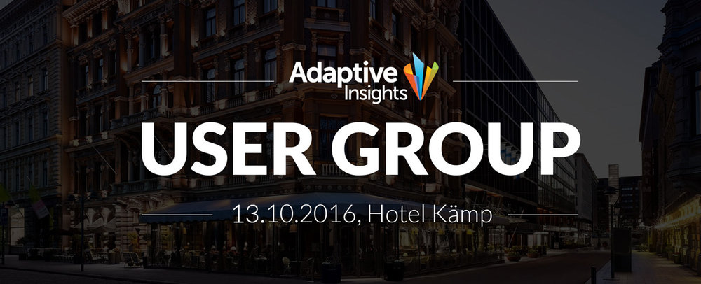 Adaptive Insights User Group - 13.10.2016 - Hotel Kämp
