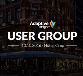 Adaptive Insights User Group 13.10.2016 - Hotel Kämp