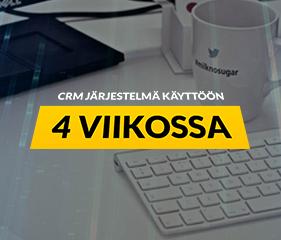 CRM-järjestelmä käyttöön 4 viikossa 11.10.2016