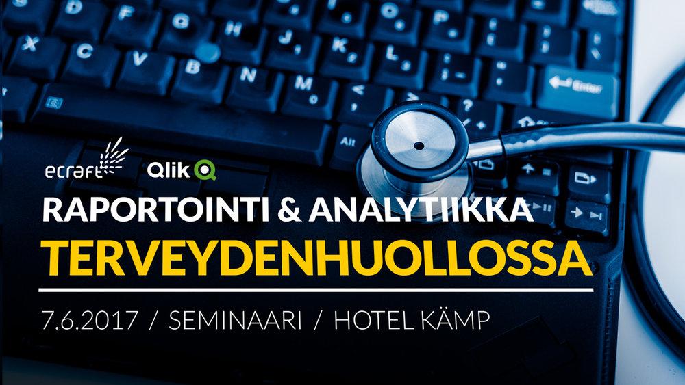 raportointi ja analytiikka terveydenhuollossa