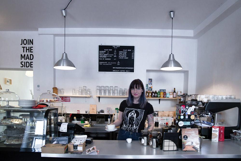 mad drop specialty coffee shop bratislava