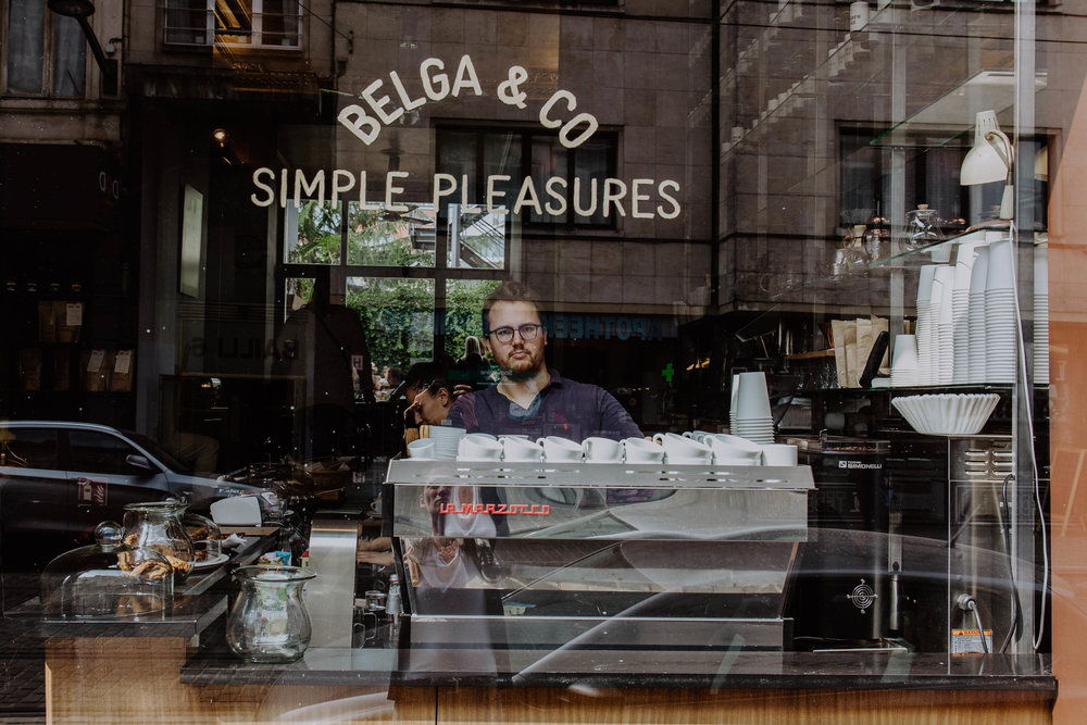 Co-owner Loïc at Belga & Co in Châtelain